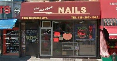 New Red Apple nail salon in Brooklyn.