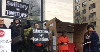 Activists protest solitary confinement outside Gracie Mansion