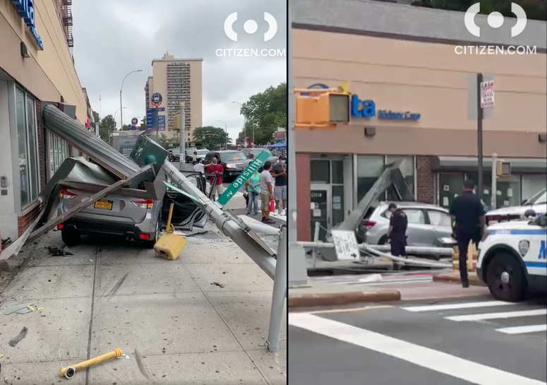 SUV crashes into Queens store