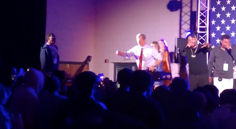 Tom Steyer dancing
