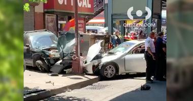 Speeding car crashes in the Bronx