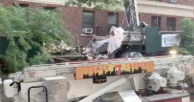 Scaffolding collapse Midtown