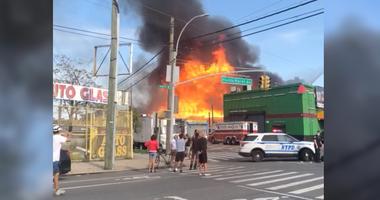 5-alarm. Bronx fire