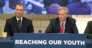 Dermot Shea and Bill de Blasio