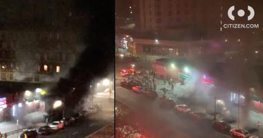 Subway fire
