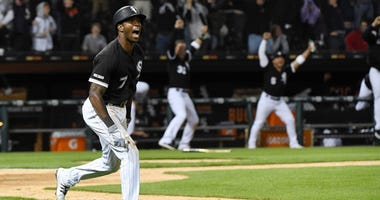 Tim Anderson rounds the bases after hitting a walkoff homer for the Chicago White Sox.