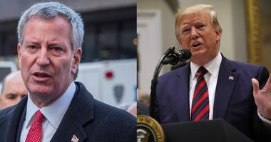 President Donald Trump and Mayor Bill de Blasio