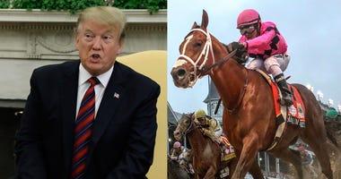 President Trump and Maximum Security