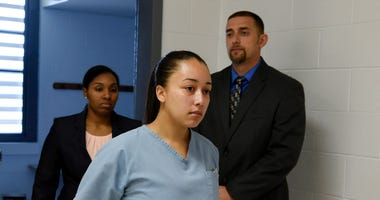 Cyntoia Brown, the Nashville woman sentenced to life in prison at age 16 for the murder of a stranger who picked her up at a fast food restaurant.