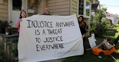 Black Lives Matter banner Westchester