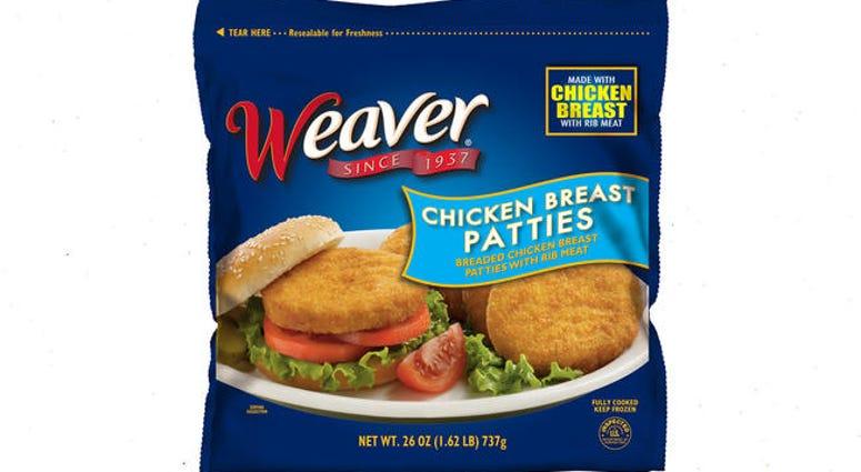 Weaver chicken breast patties
