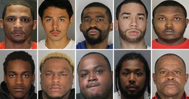 Mug shots of alleged gang members caught in Westchester operation