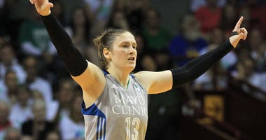 Lindsay Whalen plays for the Minnesota Lynx in the 2017 WNBA Finals.