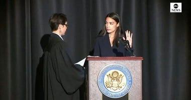 Alexandria Ocasio-Cortez swearing in
