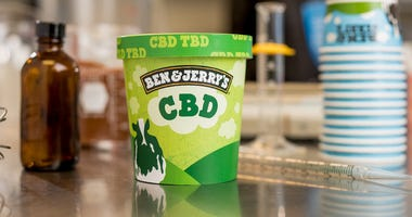 A pint of Ben & Jerry's CBD infused ice cream
