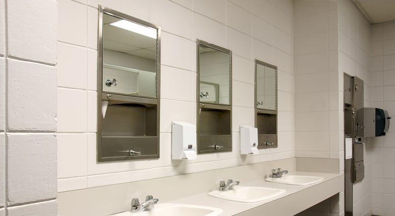 A public bathroom.