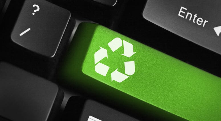 Recycle key on keyboard