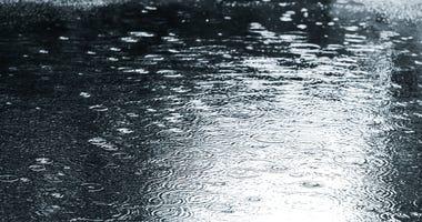 A rain puddle file image.