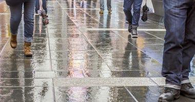 New York City on a rainy day.