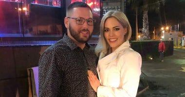 Pat Landers and his girlfriend Karla Baca.