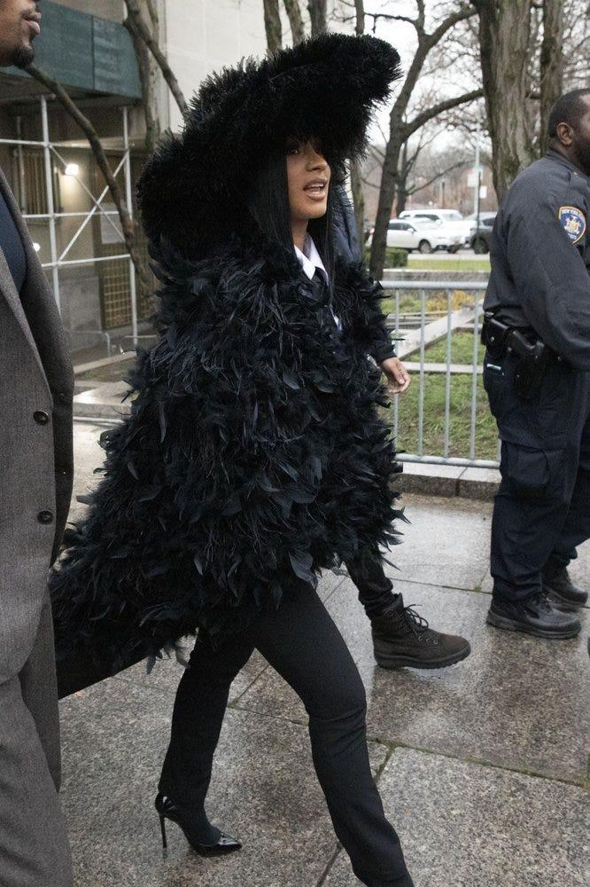 Cardi B in Queens court