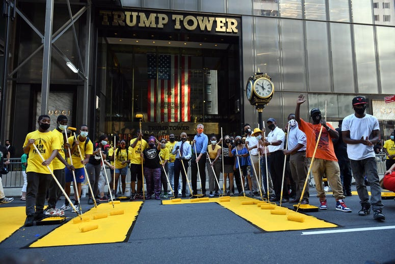 BLM mural Trump Tower