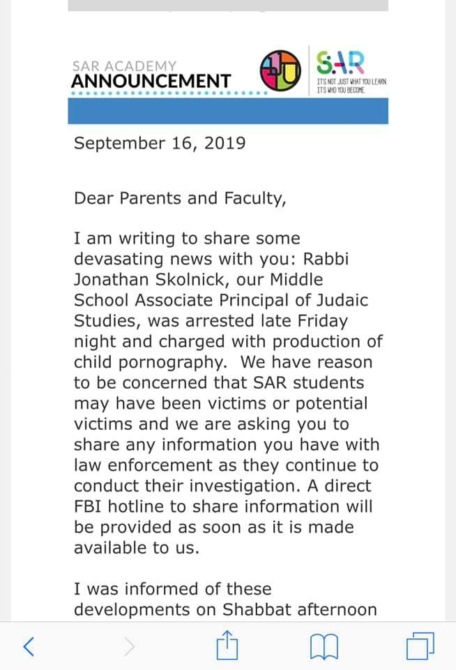 Letter from SAR Academy