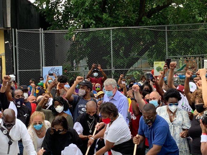 Black Lives Matter mural Harlem