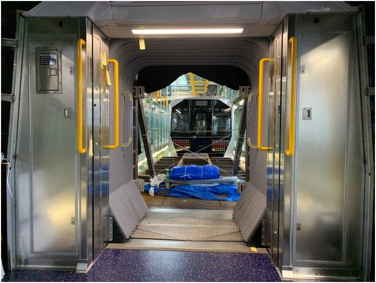 Inside new R211 subway car