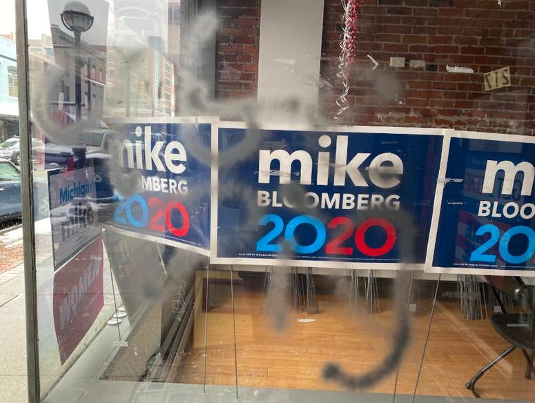 Bloomberg vandalized