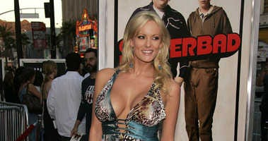 Stormy Daniels arriving for the 'Superbad' Los Angeles Premiere at Grauman's Chinese Theatre in Hollywood, CA, USA on August 13, 2007.