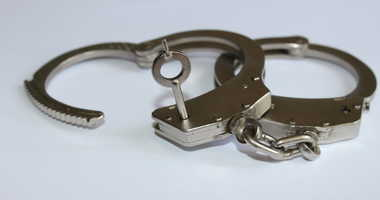 A pair of handcuffs.