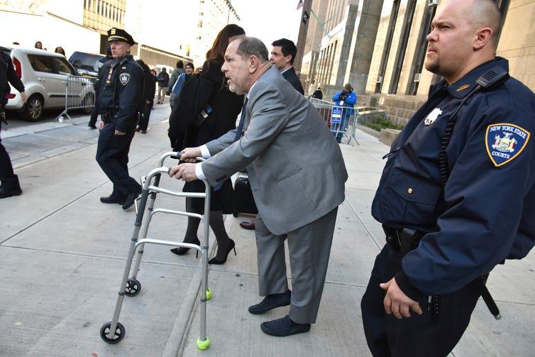 Harvey Weinstein at trial