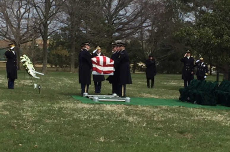 Tuskegee Airman, Captain Lawrence Dickson is laid to rest at Arlington National Cemtery