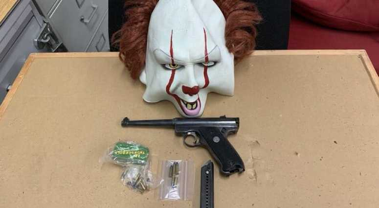 Gun, mask of arrestee at Brooklyn job center