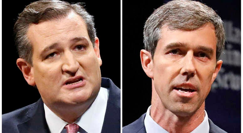 GOP Sen. Ted Cruz, left, and Democratic U.S. Representative Beto O'Rourke.