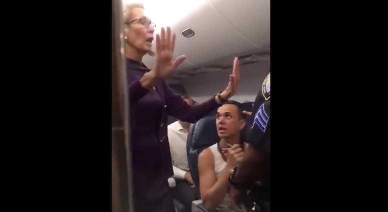 Chaos on Delta flight