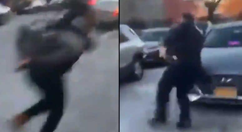 Girl escapes NYPD cruiser