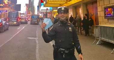 NYPD Officer Ricardo DiCandia helped an Irish tourist pay for Hamilton tickets after she spent days waiting in line.
