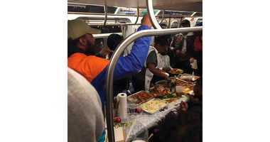 L train Thanksgiving dinner