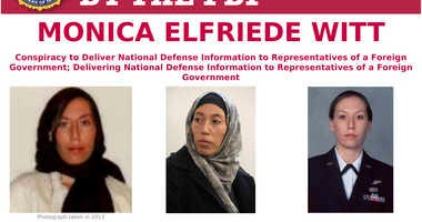 This image provided by the FBI shows part of the wanted poster for Monica Elfriede Witt.