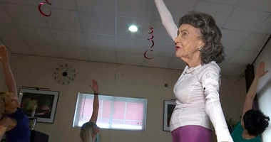 100-year-old yoga instructor