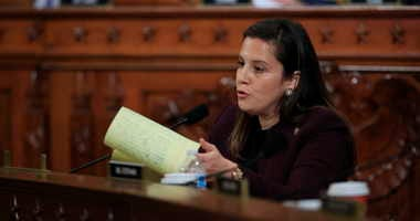 Rep. Elise Stefanik, R-N.Y., questions former White House national security aide Fiona Hill, and David Holmes, a U.S. diplomat in Ukraine, as they testify before the House Intelligence Committee on Capitol Hill in Washington, Thursday, Nov. 21, 2019,