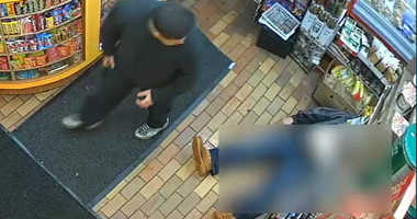 Cops are looking for a guy who beat up a 66-year-old man inside of a Bronx bodega.