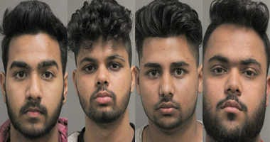 Four men charged in connection with an alleged assault duing a cricket game.