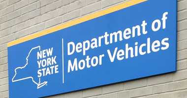 New York State Department of Motor Vehicles sign