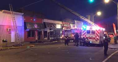 Strip mall fire