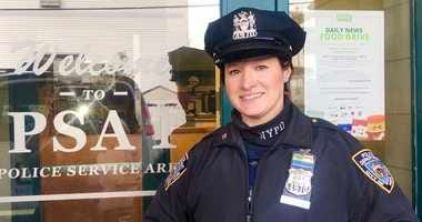 NYPD officer 'saved two lives' after tracking down woman at gun shop who threatened to kill herself and her baby