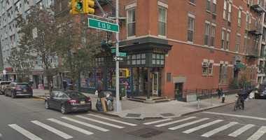 East Village street corner.