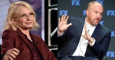 Ellen Barkin (L) and Louis CK (R).